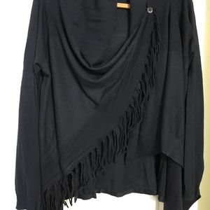 Sweaters - Fringe wrap sweater